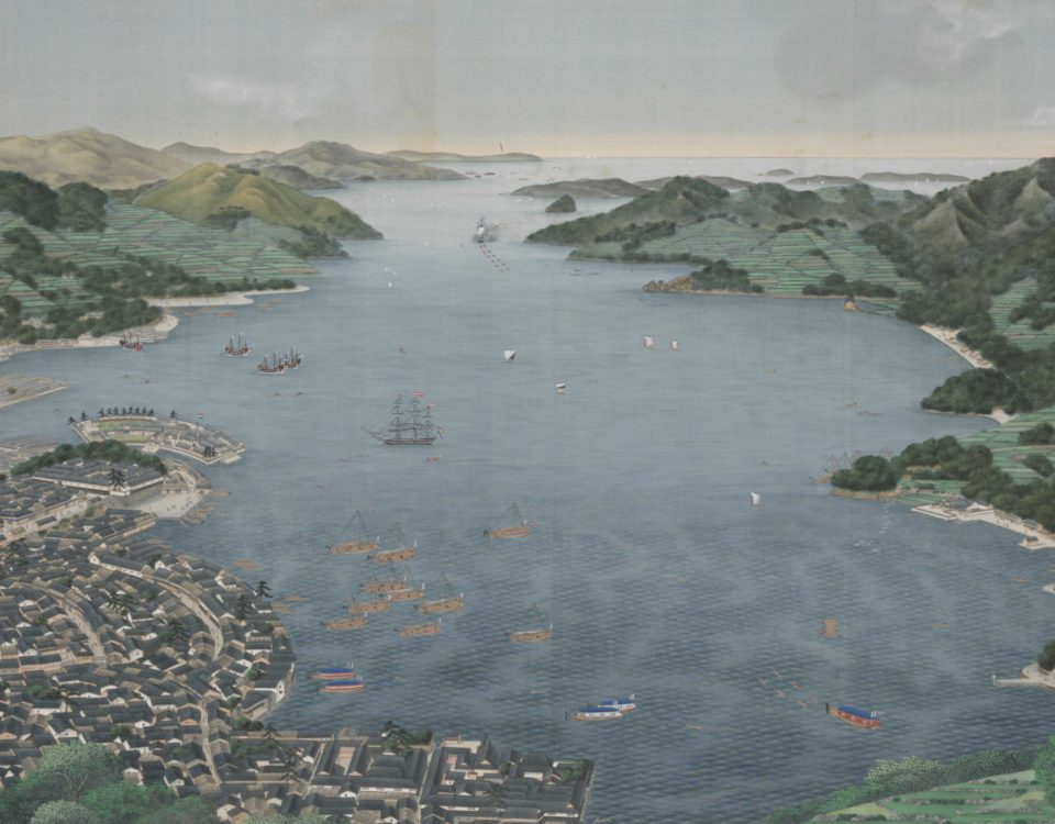 Nagasaki-Harbour_Kawahara-Keiga_ Rijksmuseum Amsterdam