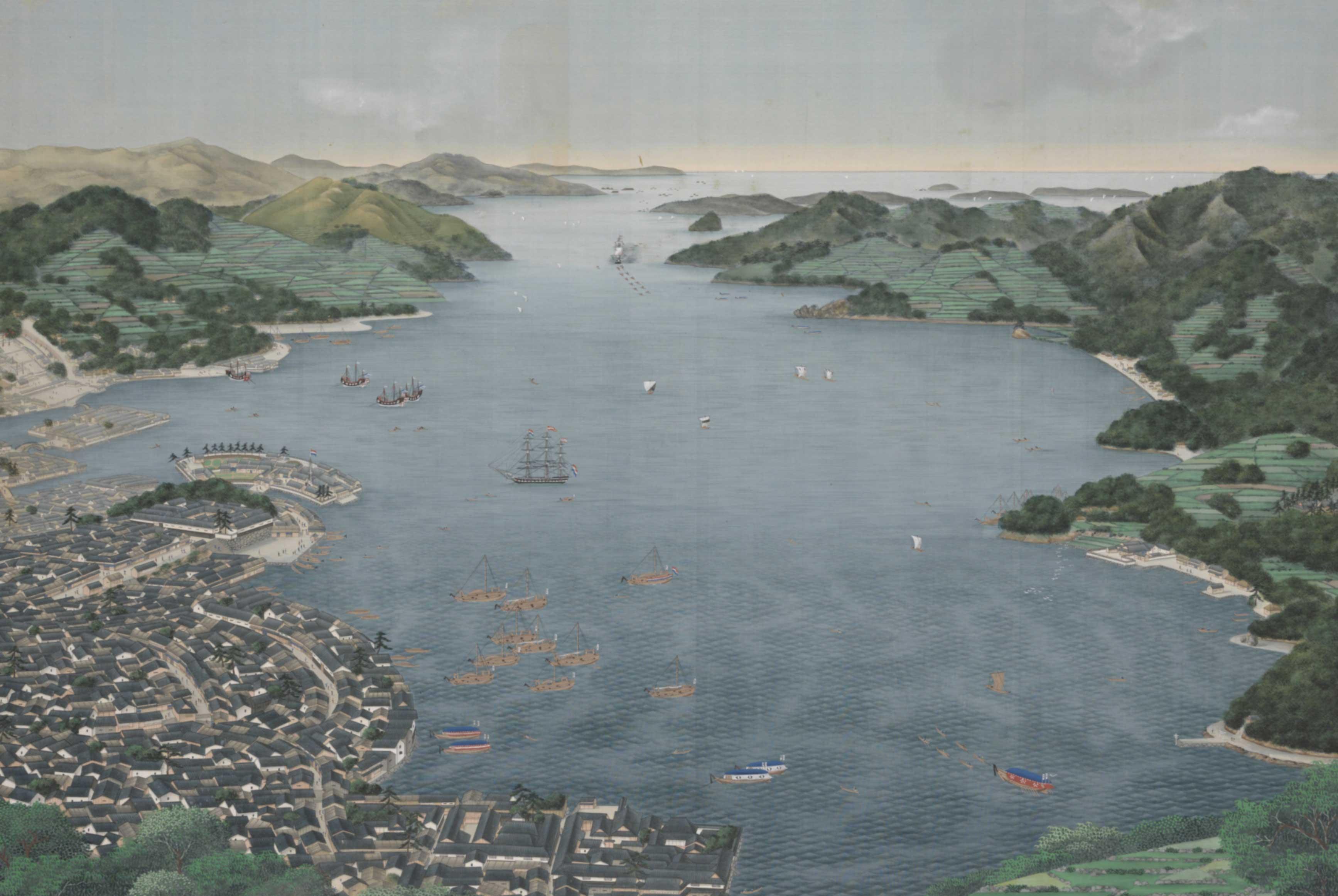 Nagasaki-Harbour_Kawahara-Keiga